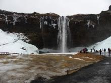 Vodopad Seljalandsfoss na Islandu